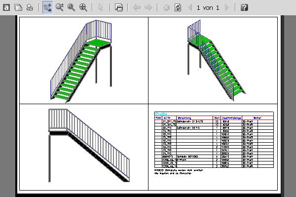 STAHL Treppe C-Profil