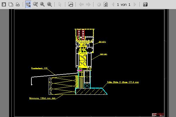 Kunststofffenster detail dwg  SYSCAD TEAM GmbH - CAD für den Metallbau - Fenster, Türen und ...