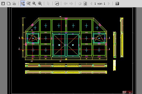CAD-PLAN einer HUECK LAVA 77 - 30 Brandschutz-Tür
