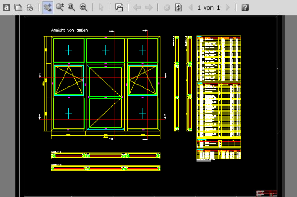 CAD-PLAN einer PURAL Türanlage