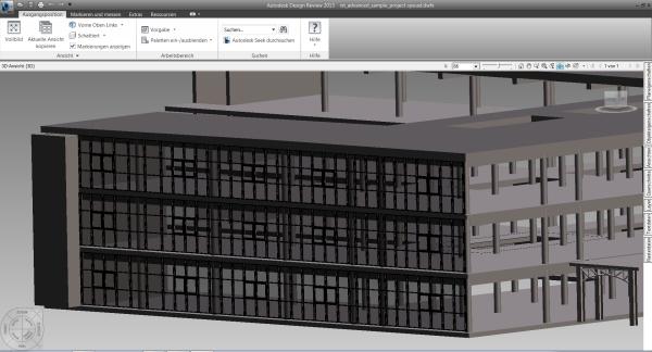 Export eines 3D-Modells einer HUECK TRIGON Fassaden in Autodesk REVIT