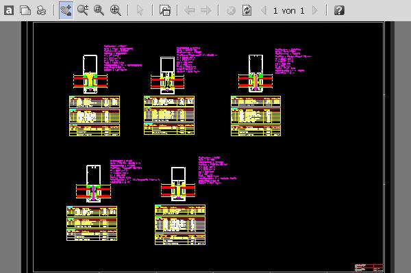 Vergleich mehrerer Fassadensysteme mit der Schnittpunktkalkulation