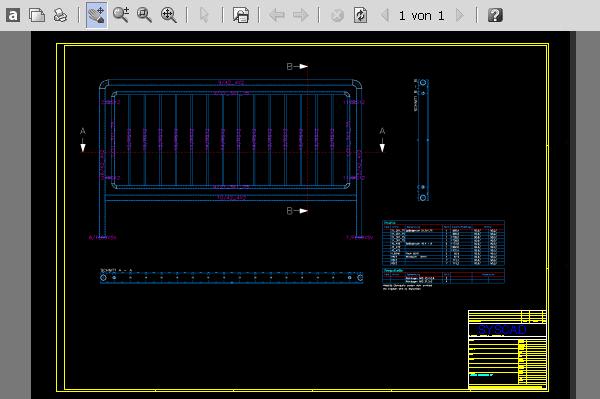 Geländer zeichnen mit dem Stahl-System