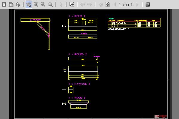 Beispiel Stahl-Träger IPE160